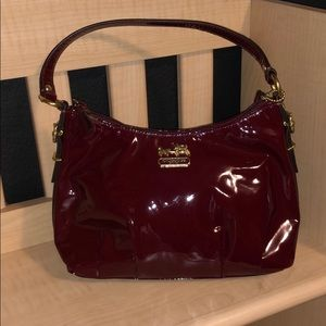 Brand New Red Patent Leather Coach Bag